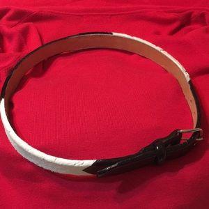 Accessories - Black cow hide belt